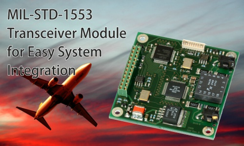 MIL-STD-1553 Transceiver Module for Easy System Integration
